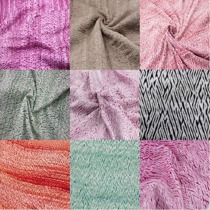 Assorted Tie-dye & Shibori Fabric Swatches