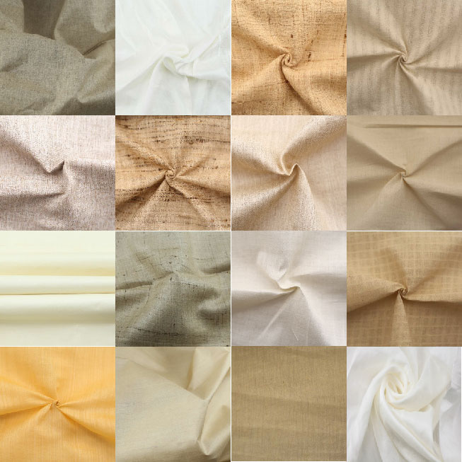 Assorted Indian Premium Silk Fabric Swatches - Mulberry, Tussar & More