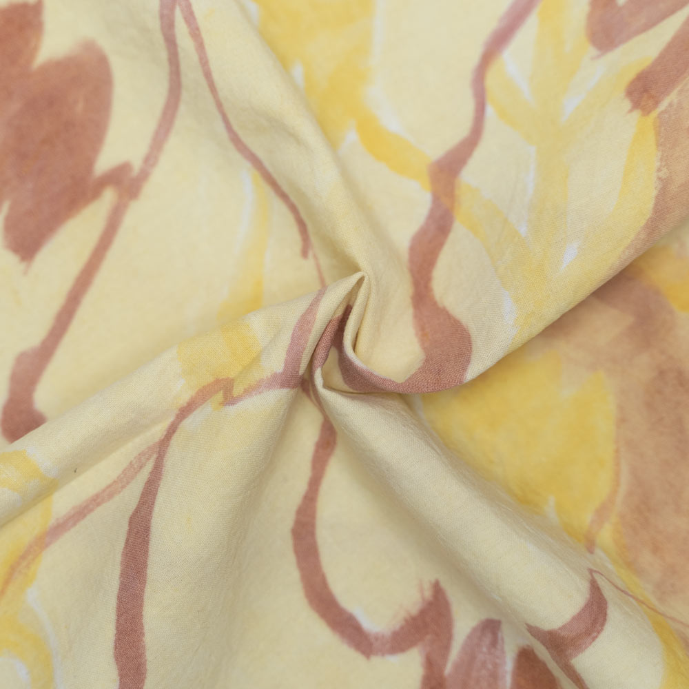 HAND PAINTED FABRIC  NATURAL DYE