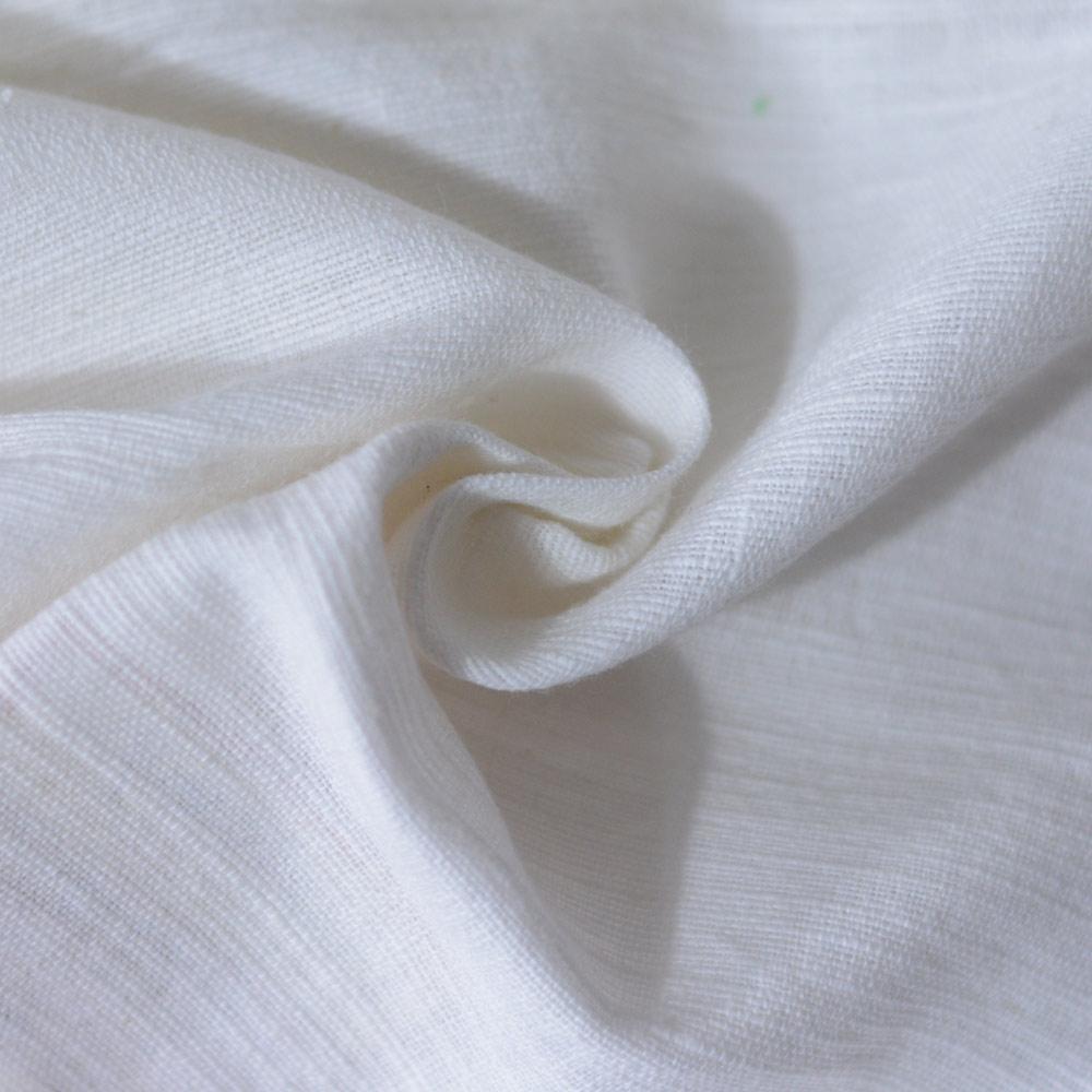 WHITE KHADI FABRIC   BLEACHED WHITE & DYEABLE