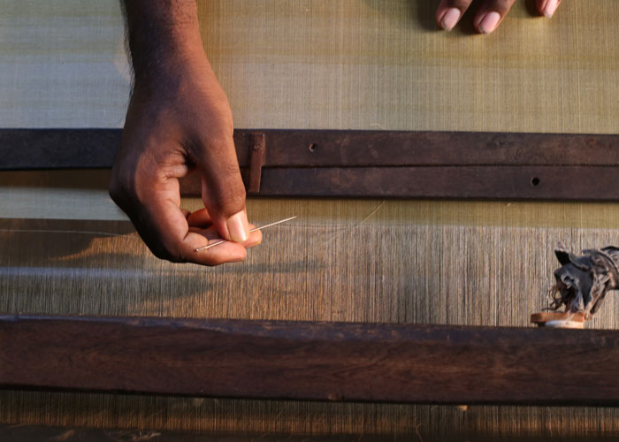 Handwoven Mulberry silk in india