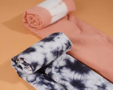 Tie dye fabrics have unique pattern