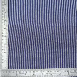STRIPE DARK BLUE PURE COTTON HANDWOVEN FABRIC