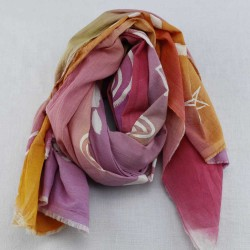 HAND PAINTED PURE  COTTON SCARFS