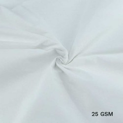 WHITE COTTON FABRIC - BLEACHED WHITE & DYEABLE