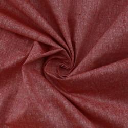 PLAIN RED MATKA SILK & KHADI BLEND HANDWOVEN FABRIC
