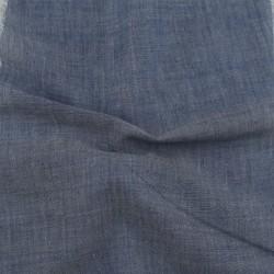 CHAMBRAY DARK BLUE KHADI COTTON HANDWOVEN FABRIC
