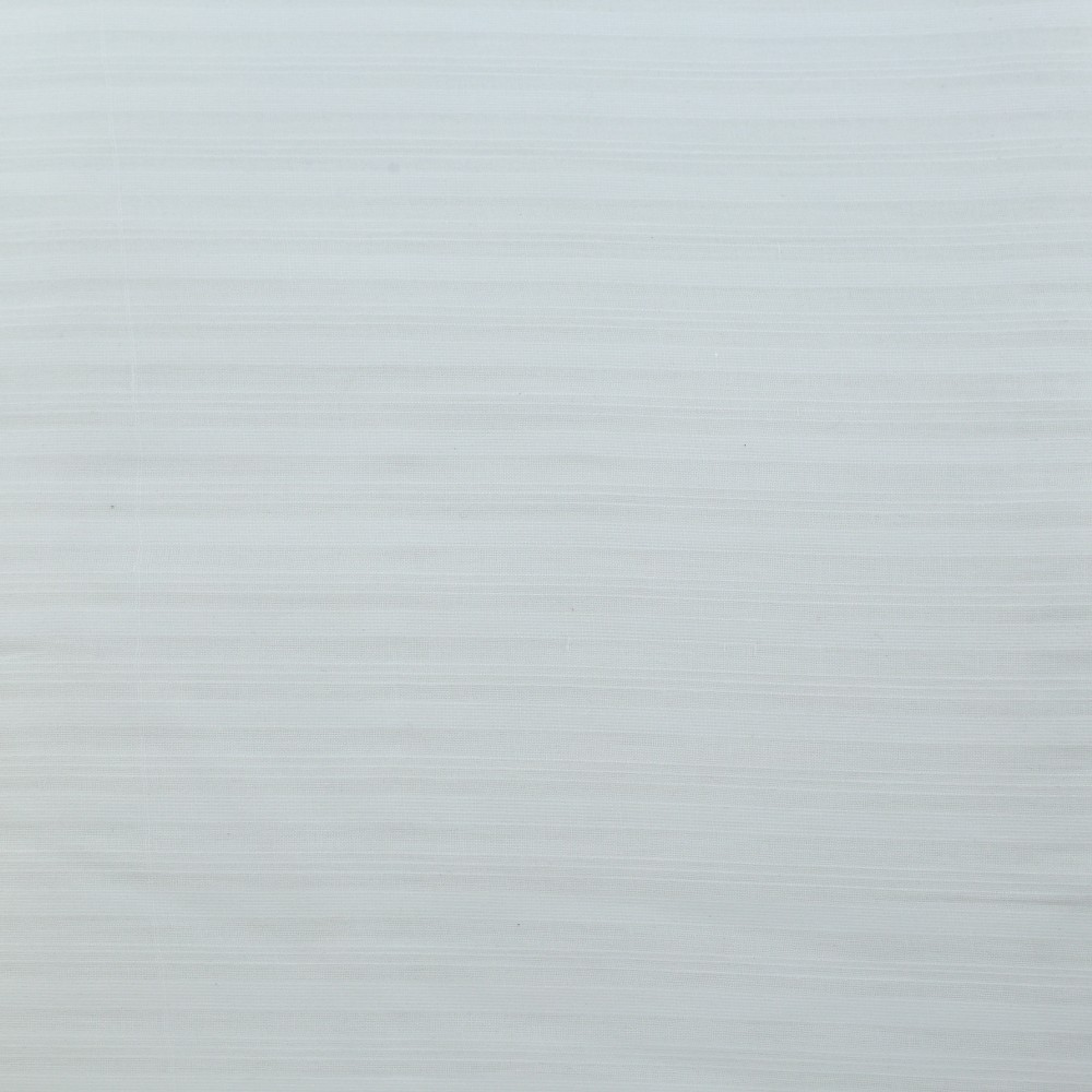 WHITE STRIPE COTTON FABRIC - BLEACHED WHITE & DYEABLE