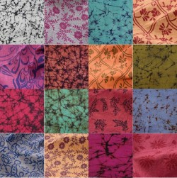 Assorted Hand Printed Fabric Swatches