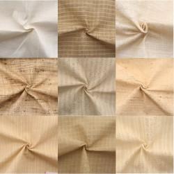 Assorted Indian Peace Silk Fabric Swatches - Matka, Ketya