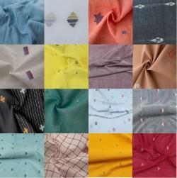 Assorted Handwoven Jamdani Fabric Swatches