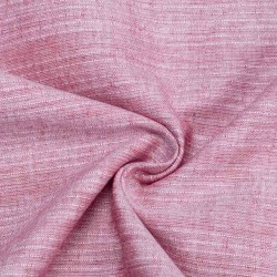 STRIPE ROSE PINK PURE COTTON HANDWOVEN FABRIC