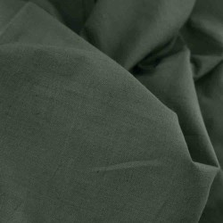 PLAIN OLIVE GREEN PURE COTTON HANDWOVEN FABRIC