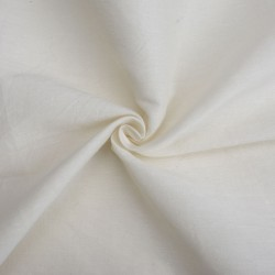 PLAIN WHITE PURE LINEN HANDWOVEN FABRIC