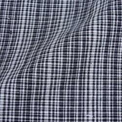 CHECK BLACK & WHITE KHADI COTTON HANDWOVEN FABRIC