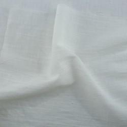 WHITE SLUB COTTON FABRIC | BLEACHED WHITE & DYEABLE