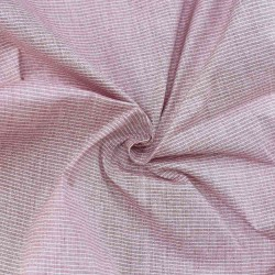 CHECK PINK PURE COTTON HANDWOVEN FABRIC