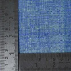 PLAIN LIGHT BLUE PURE MATKA HANDWOVEN FABRIC