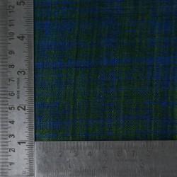 PLAIN BLUE GREEN PURE MATKA HANDWOVEN FABRIC