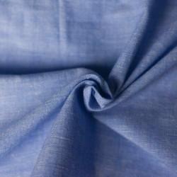 CHAMBRAY BLUE KHADI COTTON HANDWOVEN FABRIC