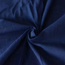 SLUB INK BLUE KHADI FABRIC - HANDSPUN & HANDWOVEN