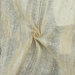 PLAIN NATURAL TUSSAR & GHICHA SILK BLEND HANDWOVEN FABRIC