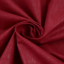 PLAIN RED KHADI COTTON HANDWOVEN FABRIC