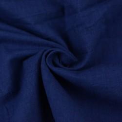 PLAIN BLUE PURE COTTON HANDWOVEN FABRIC