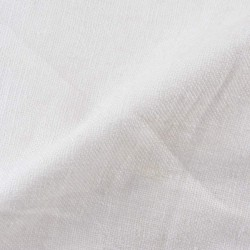 DYEABLE HANDSPUN, HANDWOVEN NATURAL PURE KHADI FABRIC | BLEACHED WHITE