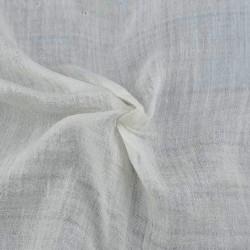 PLAIN NATURAL MULBERRY SILK & COTTON BLEND HANDWOVEN FABRIC