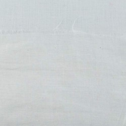 SHEER WHITE PLAIN COTTON FABRIC | BLEACHED WHITE & DYEABLE