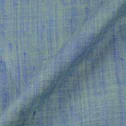 PLAIN BLUE MINT PURE MATKA HANDWOVEN FABRIC