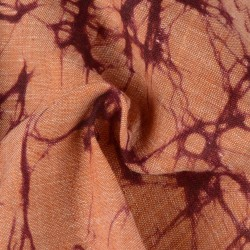 ABSTRACT PEACH BATIK COTTON FABRIC -  HAND PRINTED