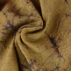 ABSTRACT OLIVE BATIK COTTON FABRIC -  HAND PRINTED