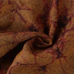ABSTRACT BROWN BATIK COTTON FABRIC - HAND PRINTED