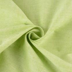 STRIPE GREEN PURE COTTON HANDWOVEN FABRIC