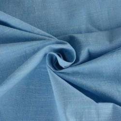 SLUB POWDER BLUE PURE COTTON HANDWOVEN FABRIC
