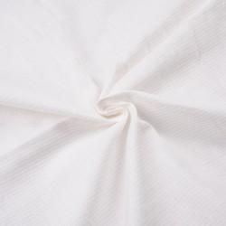 WHITE JACQUARD MERCERISED COTTON FABRIC