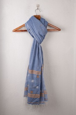 HANDWOVEN BLUE SCARF