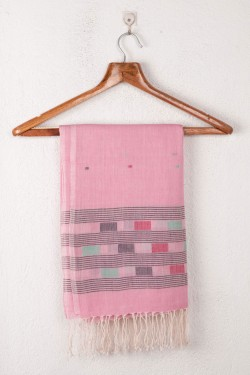HANDWOVEN PINK SCARF